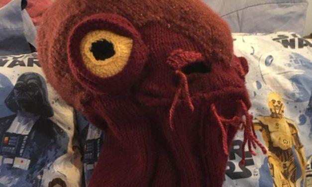 Katie Freeman's Knitted Admiral Ackbar Balaclava – 'It's a CAP!'