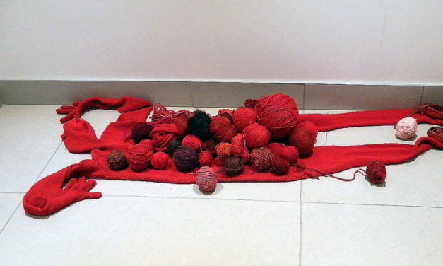 Stealthy Yarn Bomber Places Cryptic Knitted Arrangement at the Ottawa Art Gallery – It's a Bonfide Mystery!