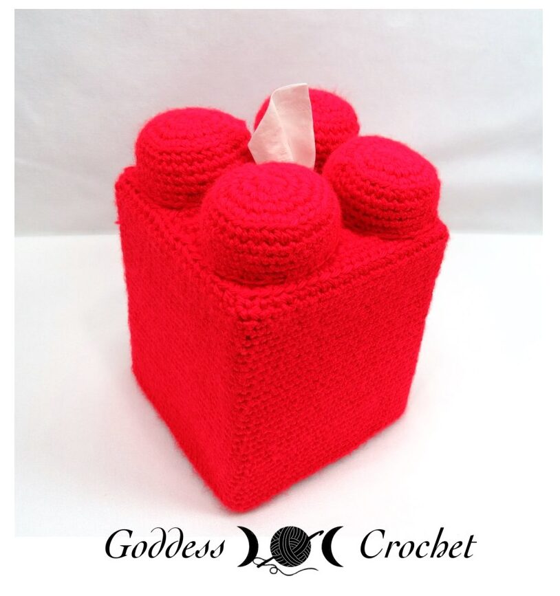 Crochet a Lego Tissue Cover - Rectangular OR Square! TWO Free Patterns!