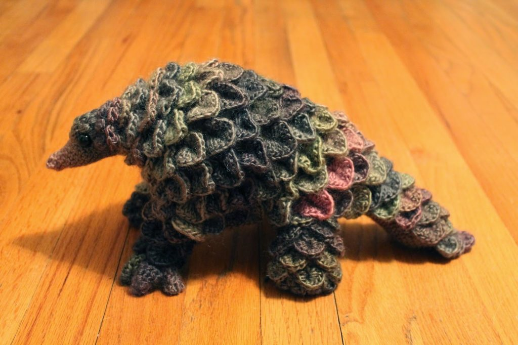 Crochet Pangolin by Kate Cooks and Crafts - get the pattern!