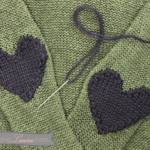 Knit a Pair of Cute Heart-Shaped Elbow Patches, Get the Pattern Free!
