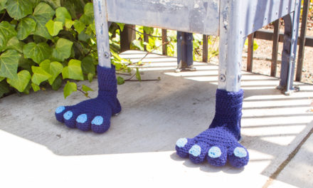 Designer Spotlight: Knits For Life, Join Their Monster Feet Yarn Bomb Along!