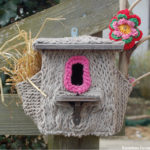 Yarn Bombing a Functional Bird House For Your Backyard!