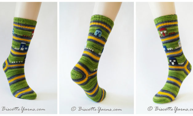Biscotte's Self-Striping Yarn Lets You Knit Magic Into Every Sock!