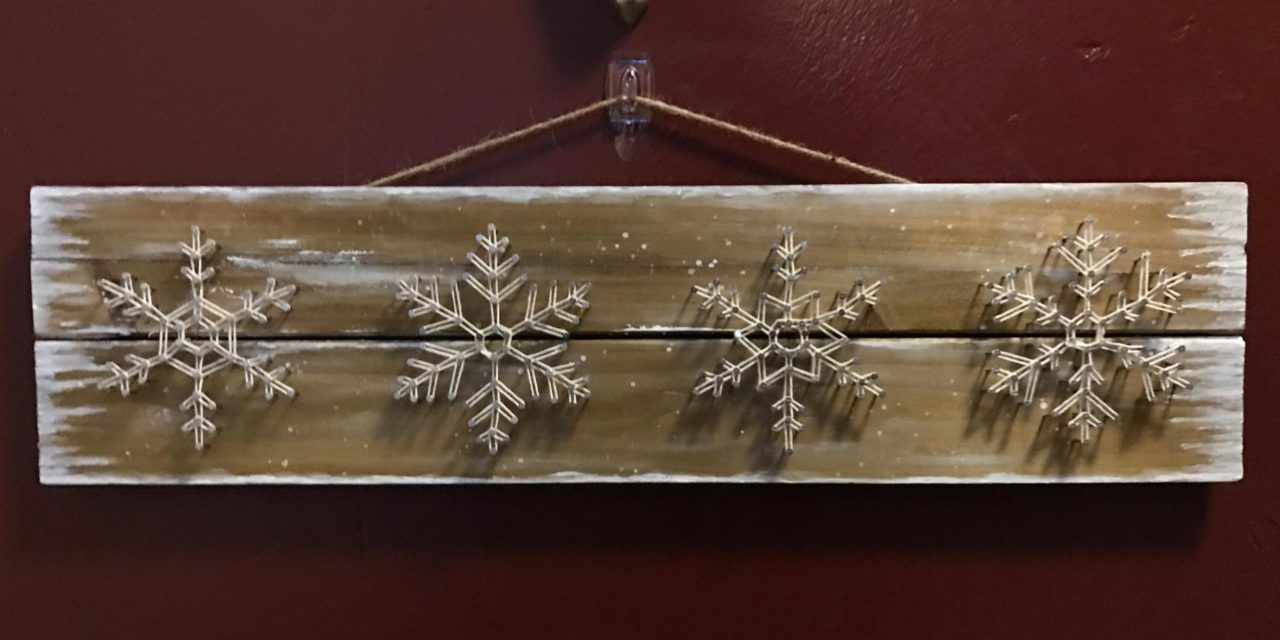 Easy DIY Snowflake String Art – Free Tutorial