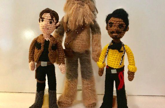 Crochet Your Own Han Solo, Chewbacca, and Lando Calrissian Amigurumi!
