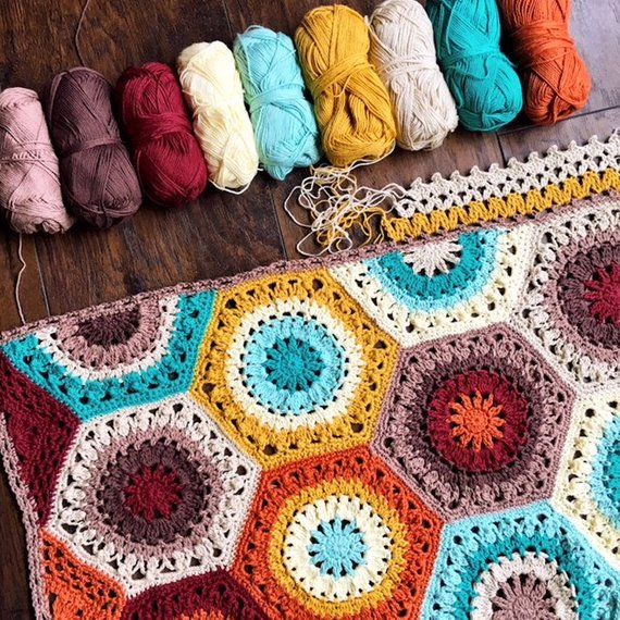 Designer Spotlight: Unique and Colorful Crochet Blanket Patterns Designed By CypressTextiles