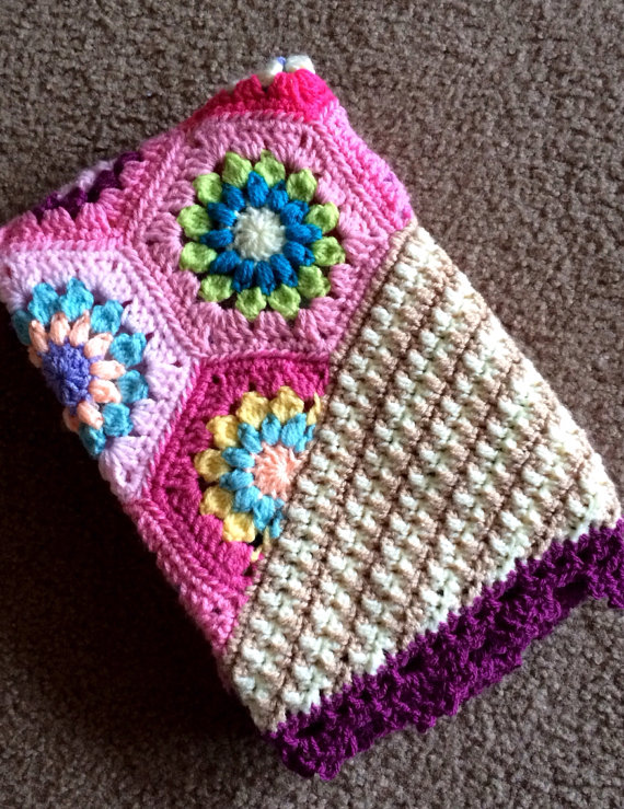 colorful crochet blanket pattern designed By CypressTextiles, get the pattern ...
