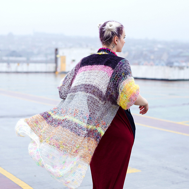 Free Pattern ... the perfect knit garment for those cooler summer days and nights.