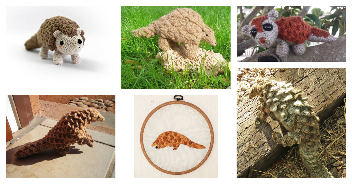 Need a Unique Handmade Gift? How About a Knit or Crochet Pangolin?