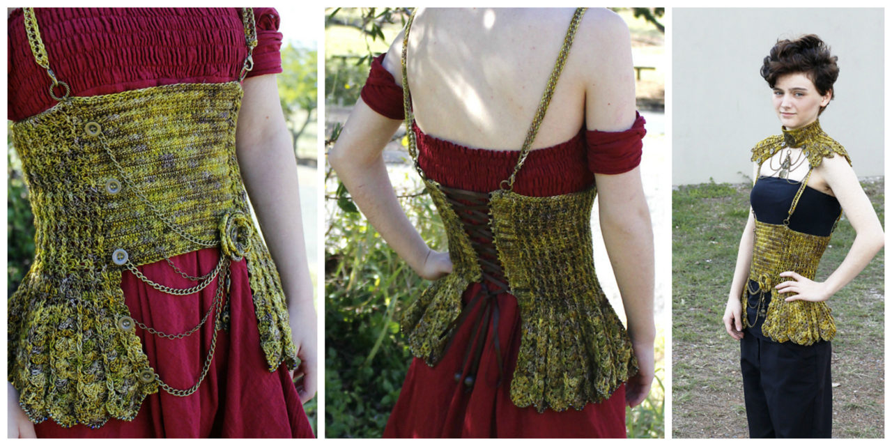 Delicate Steampunk Inspired Crochet Corset, Get the Pattern!