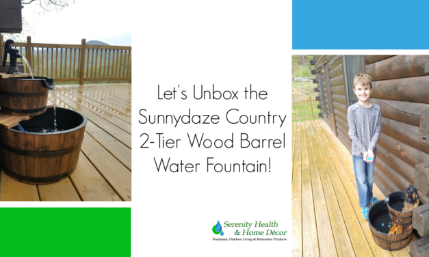 Unboxing the Sunnydaze Country 2-Tier Wood Barrel Water Fountain – a Great Addition To Any Deck or Backyard!