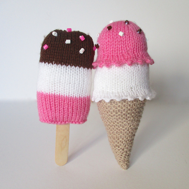 Calorie-Free Knitted Ice Cream Treats ... Free Pattern Too!