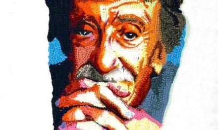 Katika's Kurt Vonnegut Portrait in Crochet
