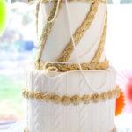 Elegant 'Knitted' Birthday Cake For a Knitter's 95th Birthday!