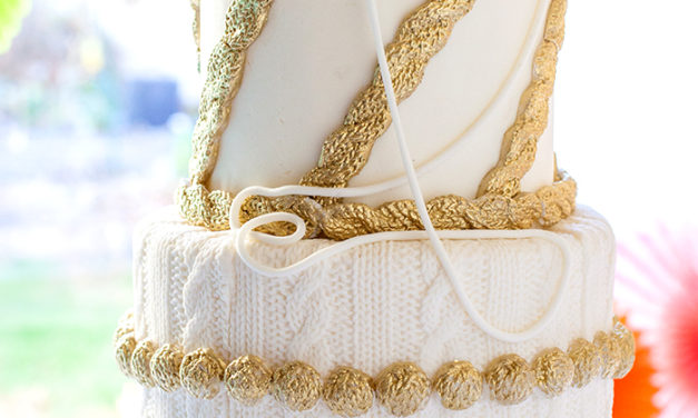 Elegant 'Knitted' Birthday Cake For a Knitter's 95th Birthday!