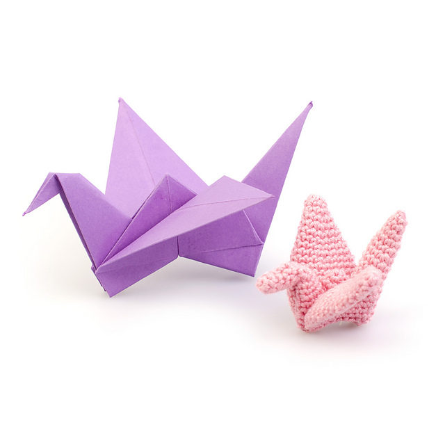 Crochet an Amigurumi Origami Crane With This Free Pattern