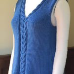 Great New Pattern For Beginner Knitters: Make This Easy Cabled Tank