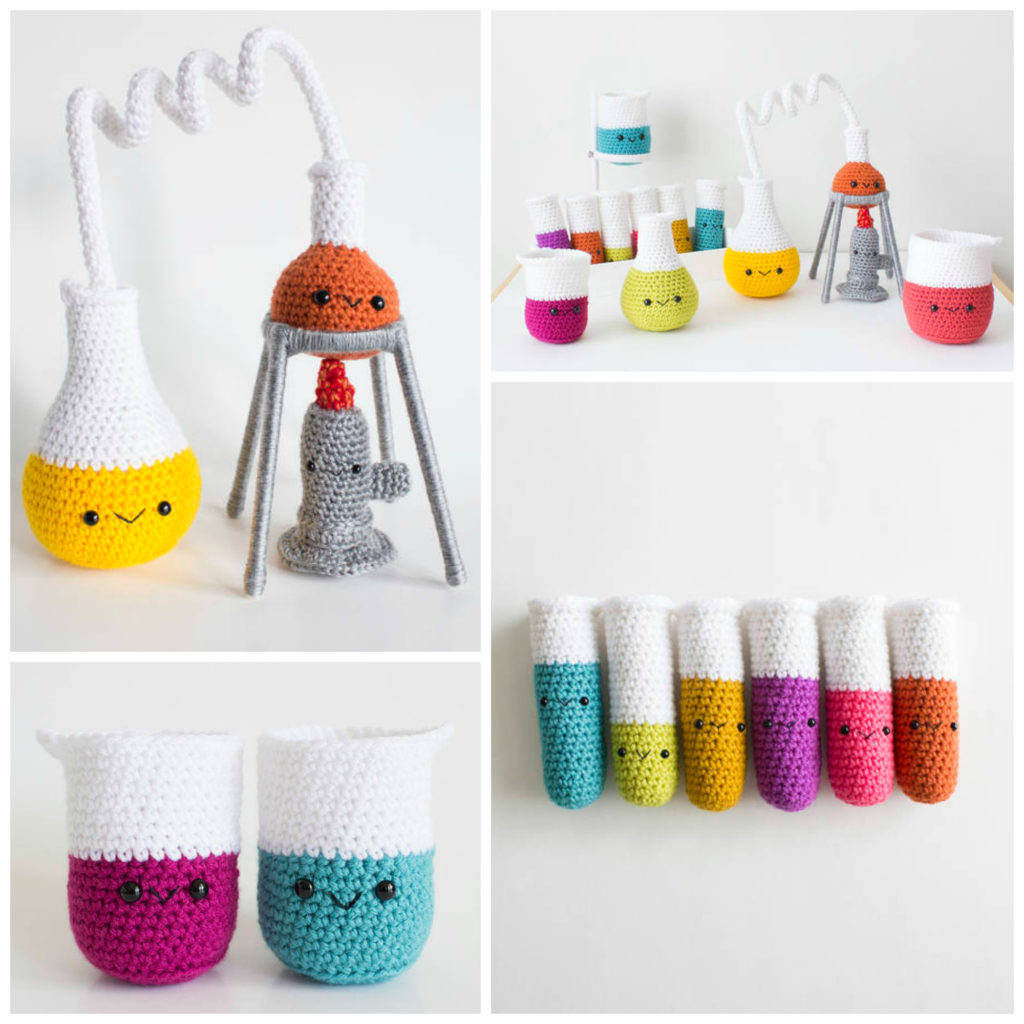 Crochet an Amigurumi Chemistry Set - So Cute and Smart Too!