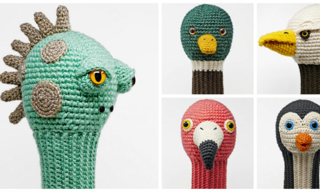 The Best Crochet Amigurumi Golf Club Covers All In One Book – Perfect For Father's Day!