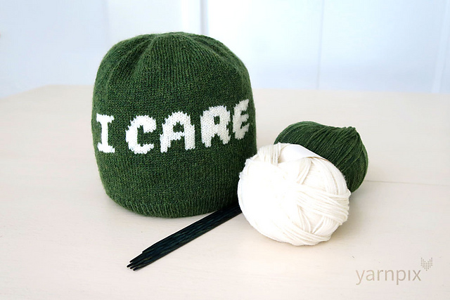 Knit an 'I CARE' Beanie, Designed By Nikki Smith-Morgan