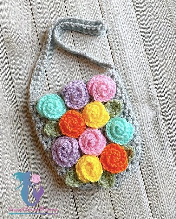 colorful crochet pattern designed by Crazy4CrochetMama, get the pattern ...