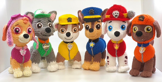 8 Paw Patrol Amigurumi Patterns For Crocheters!  f02a1ab624a