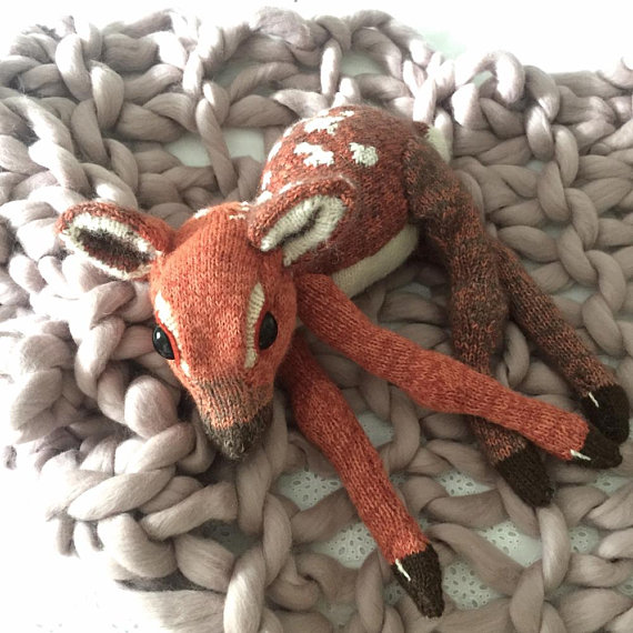 Knit Fawn by Claire Garland, get the pattern!