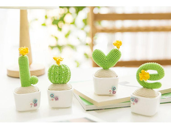 Lucky Love Letters Cactus … Get the Crochet Pattern