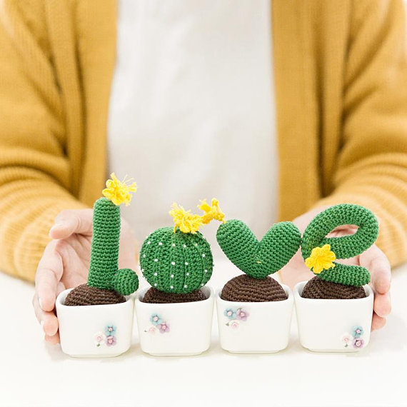 Lucky Love Letters Cactus ... Get the Crochet Pattern