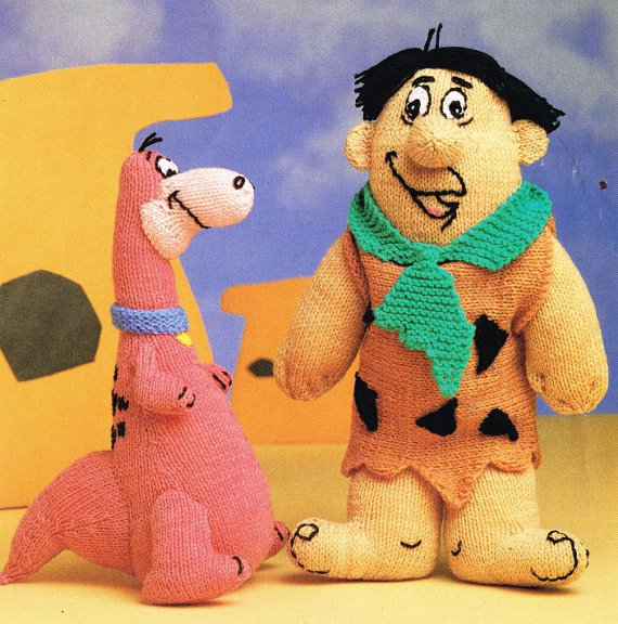 Five Fun Flintstones Patterns … Knit, Crochet & Cross-Stitch!