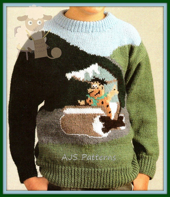 Five Fun Flintstones Patterns ... Knit, Crochet & Cross-Stitch!