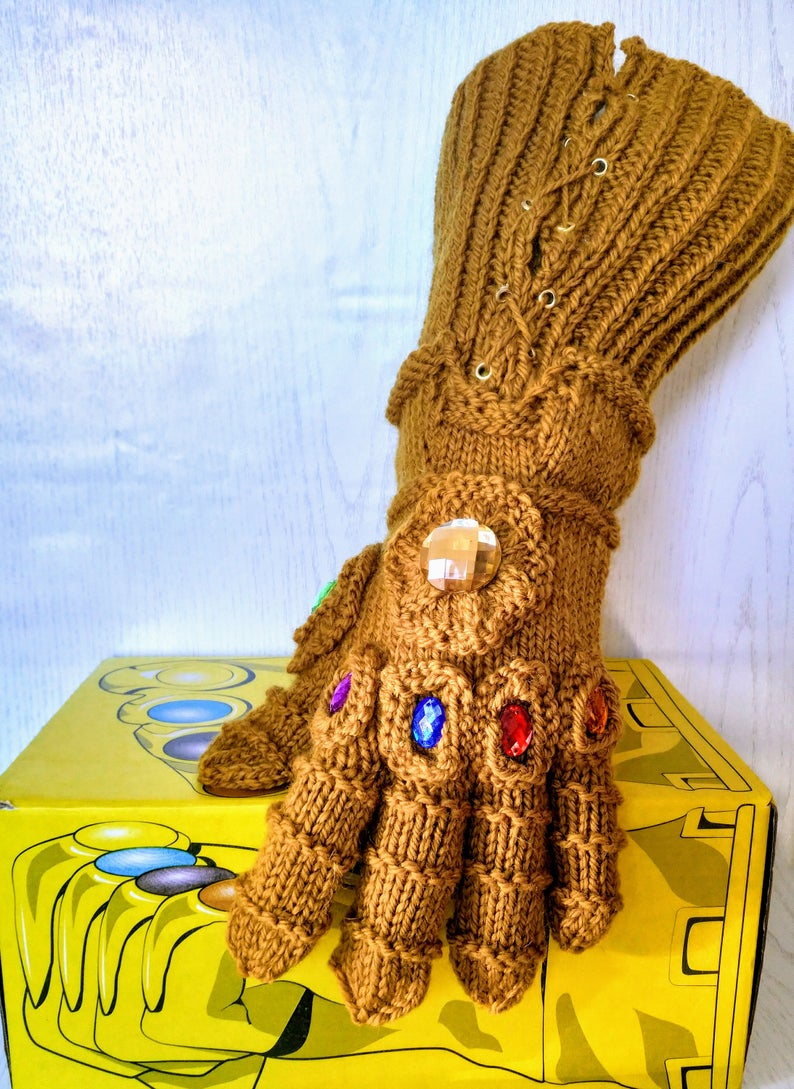 Infinity Gauntlet Patterns #knitting #crochet #handmade #diy