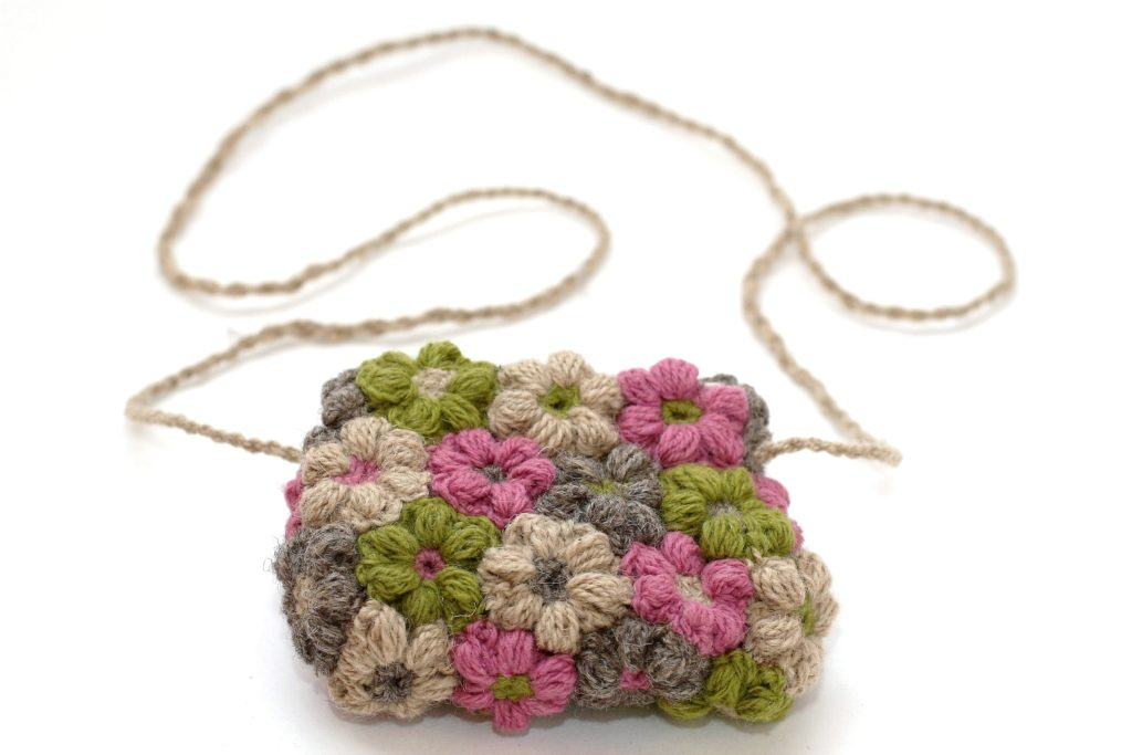 Crochet a Cute Flower Bag - Free Pattern, Terrific Stashbuster!