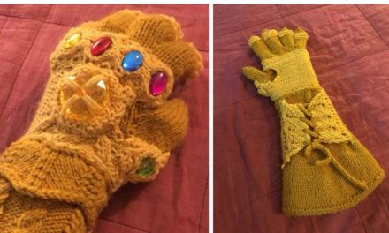 Katie Freeman's Knitted Infinity Gauntlet