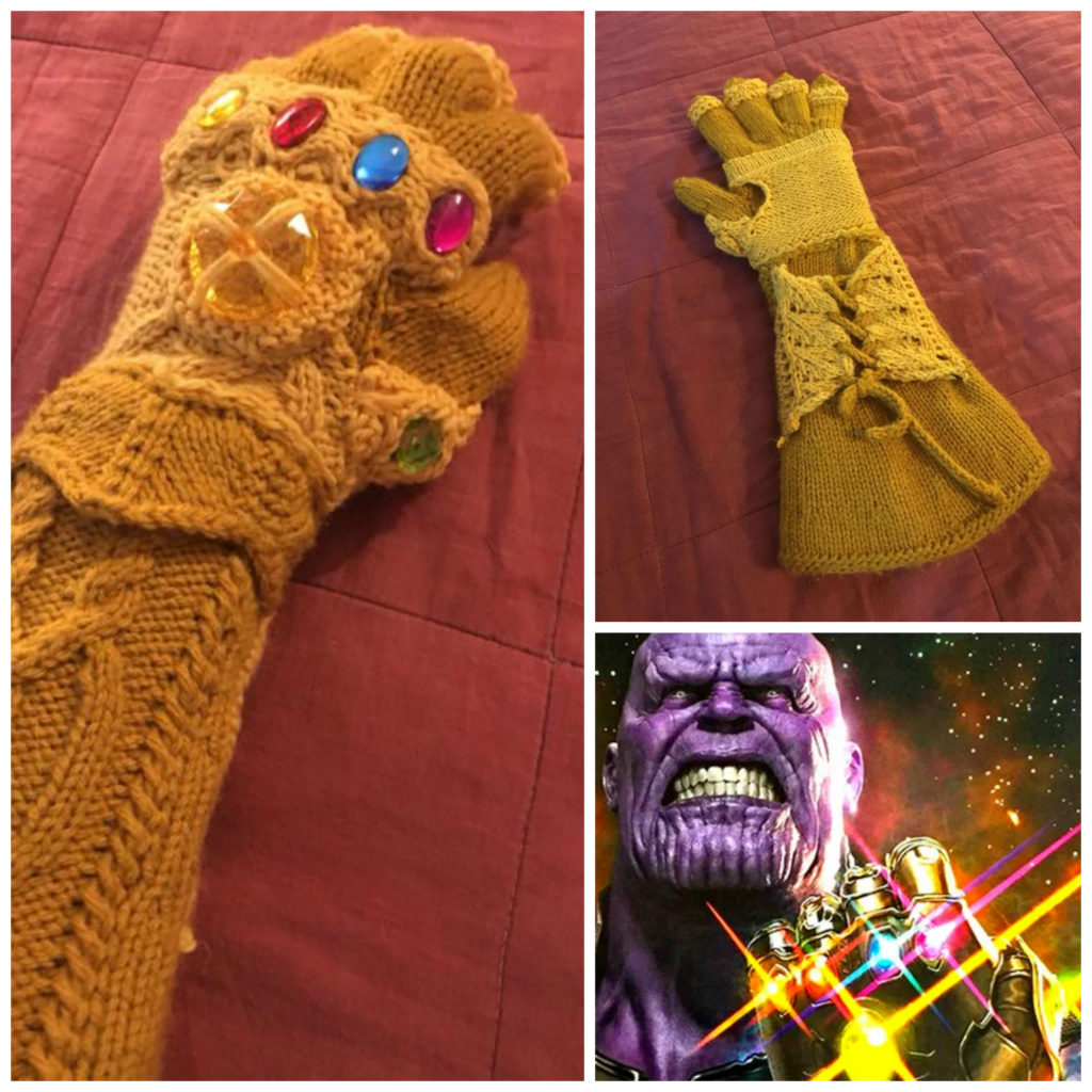 Kate Freeman's Knitted Infinity Gauntlet