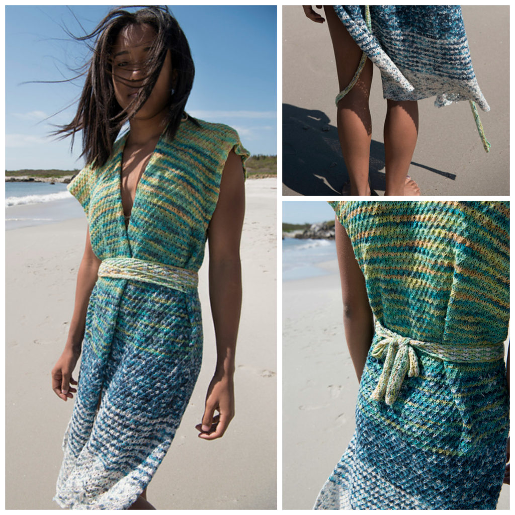 Knit a Beautiful Kimono Cover-Up, Perfect For the Beach!