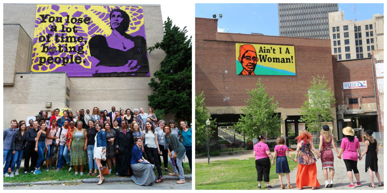 Two New Love Across The USA Crochet Murals … Featuring Marian Anderson & Sojourner Truth