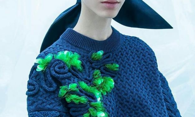 DIY Inspiration: Upcycle a Sweater With Stacked Side-Hole Sequins, Add Some Colorful Feathers Too!