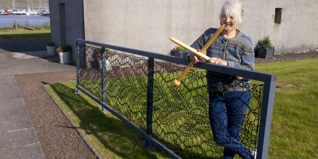 The Shetland Textile Museum Loves Lace Too So They Asked Anne Eunson To Recreate Her Famous Knitted Garden Fence and It Looks Gorgeous