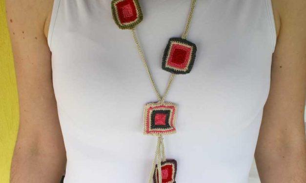 Maria Georgieva's Crochet Summer Pendant Necklace