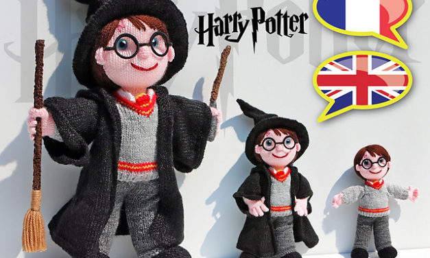 The Best Knitted Harry Potter Doll Pattern … So Good It Almost Looks Illustrated, Those Eyes!