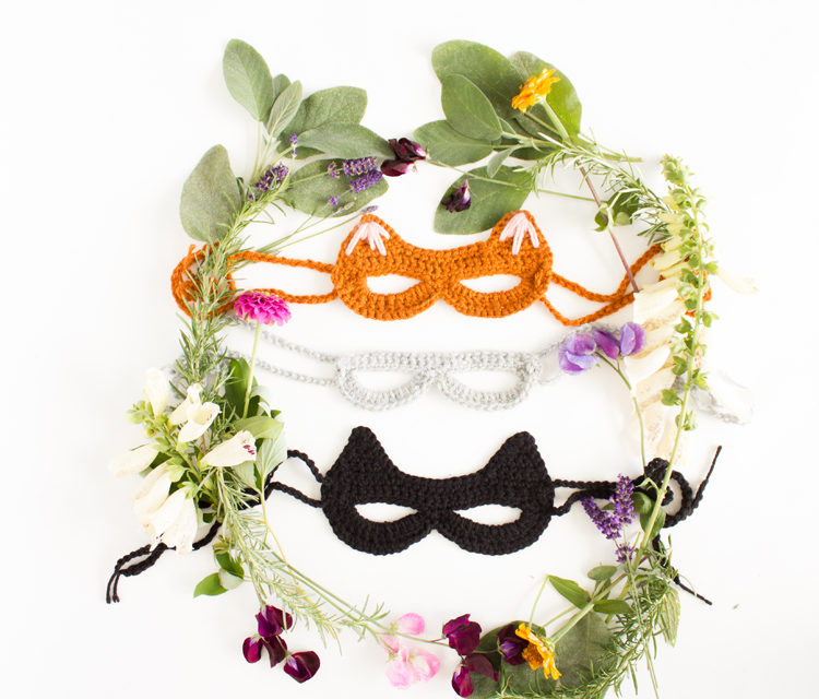 Cute Kitty Cosplay Alert! Crochet a Cat Mask With This Free Pattern & Tutorial