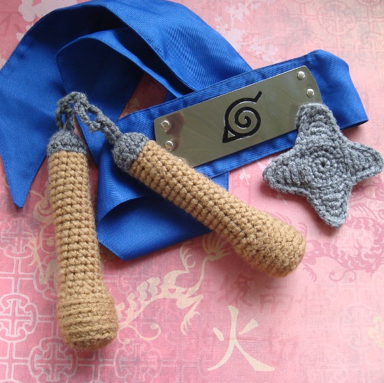 Crochet Nunchuks & Throwing Stars For Ninja Cosplay Fun – FREE Pattern!
