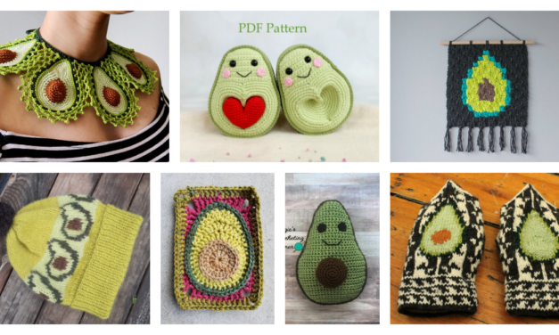 The Best Avocado-Themed Patterns For Knitters and Crocheters