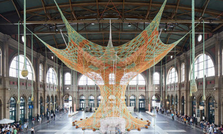 Ernesto Neto's 'GaiaMotherTree' Installation at Zurich's Central Station