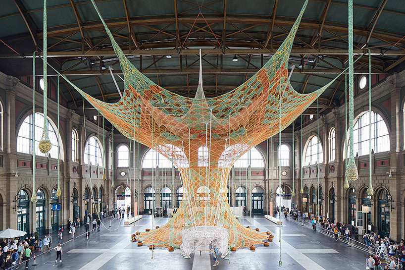 Ernesto Neto's 'GaiaMotherTree' Installation at Zurich's Central Station