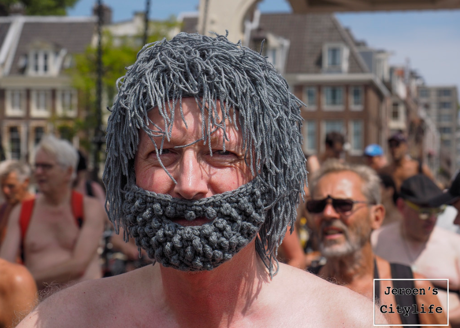 What He Wore To The World Naked Bike Ride … Hint, It's Made With Yarn