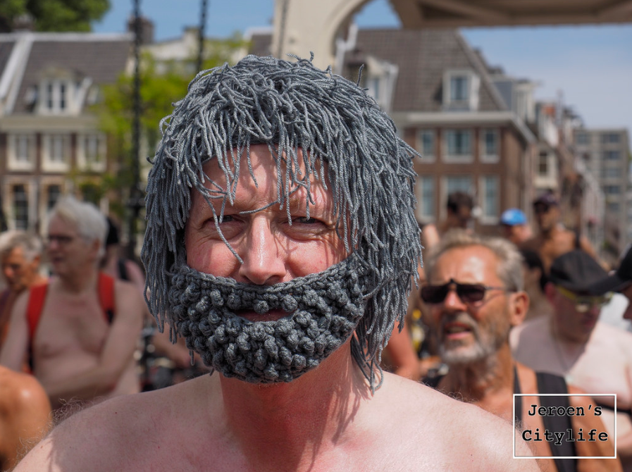 What He Wore To The World Naked Bike Ride ... Hint, It's Made With Yarn