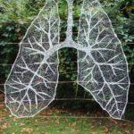 'Deep Breath' String Art Yarn Bomb By Anastassia Elias